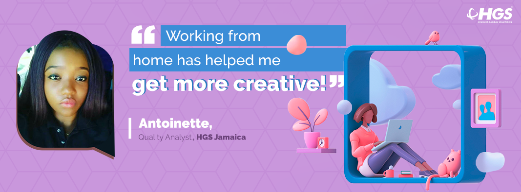 Antoinette's work@home experience